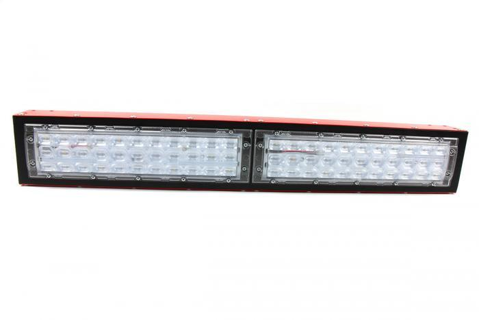 IHS Florence LED grow light module, Supplemental seeding with oval lens, front view